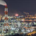 水島コンビナートの工場夜景を撮った