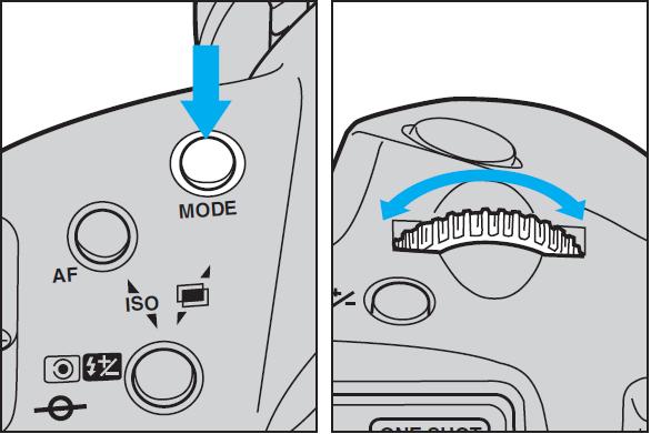 EOS-1Nの撮影モードを変える方法