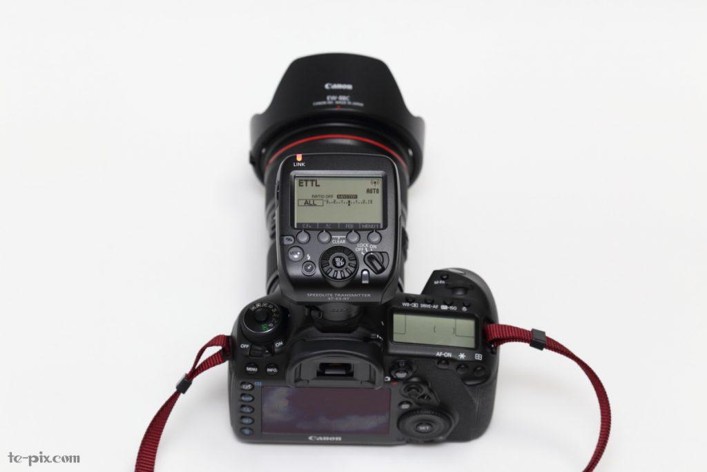 キヤノンのカメラにST-E3-RTを取り付けた例