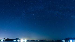 天の川と瀬戸内の風景をパノラマで撮る!