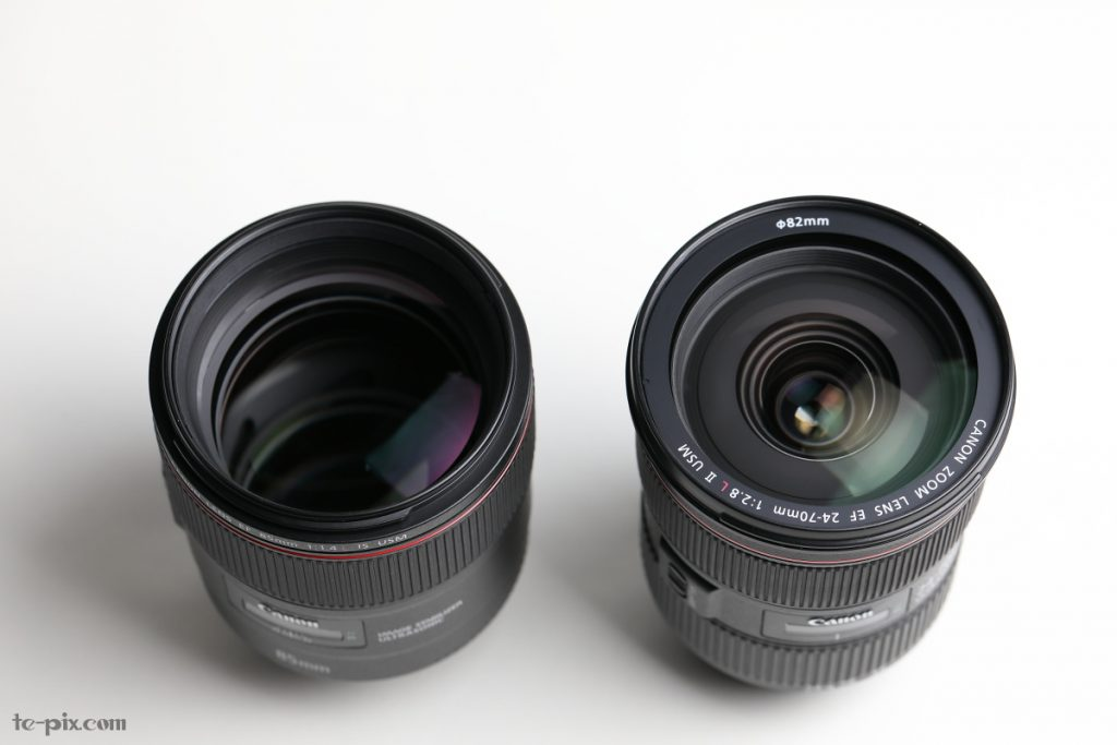 EF85mm F1.4L IS USMとEF24-70mm F2.8L II USM