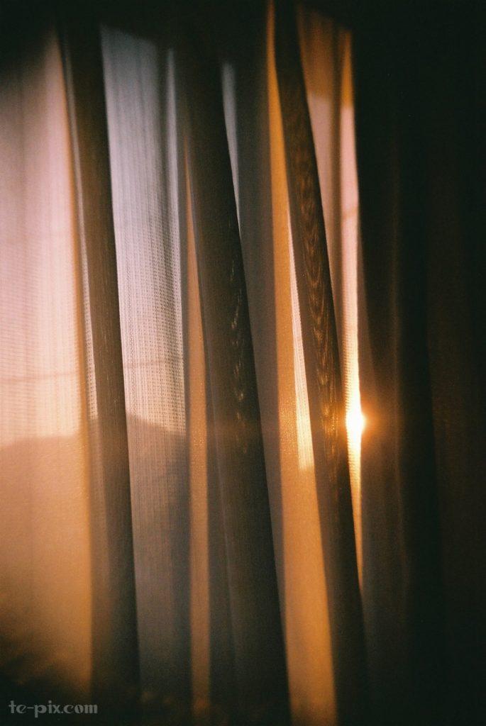 大人の科学二眼レフカメラの作例夕日