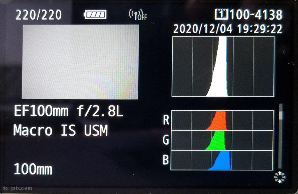 カメラのヒストグラム